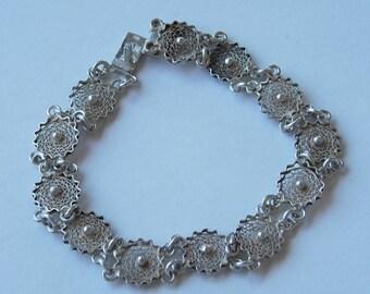 Vintage Hand made Sterling Silver Bracelet