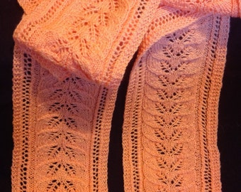Lots of Leaves, Peach lace scarf