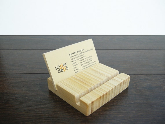 Items similar to Multiple Wood Business Card Holder