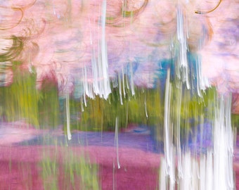 Summer Storm #1, signed custom printed fine art photograph, abstract pink, green, and violet, modern art, modern home, wall decor, landscape