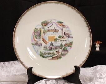Vintage Oregon Hanging Plate