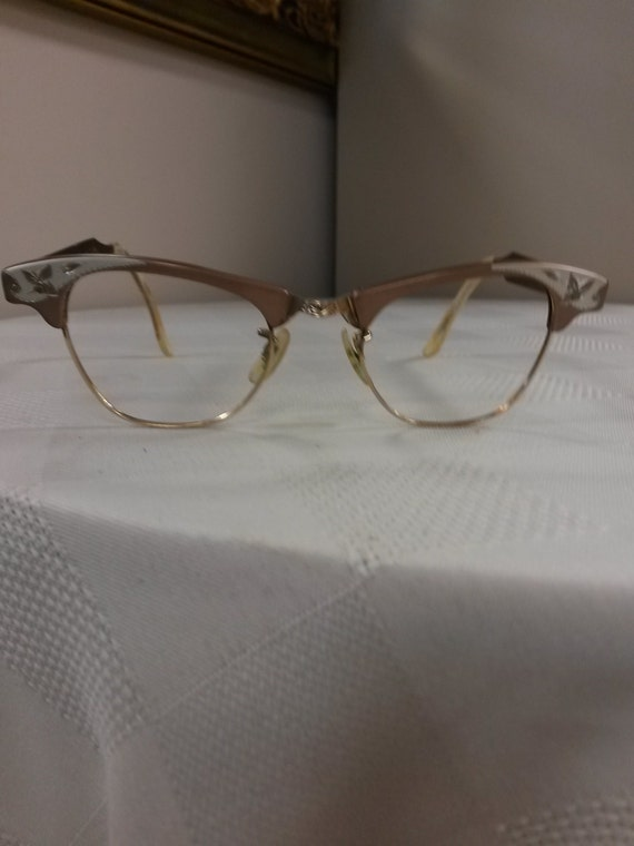 Vintage art craft 1950s ladies 39 eyeglasses frame by for Art craft eyeglasses vintage