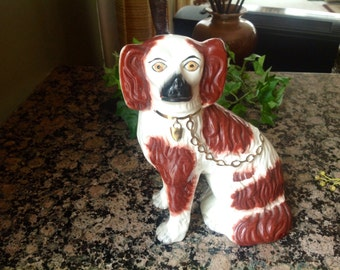 Vintage Staffordshire Red Spaniel Dog Figurine