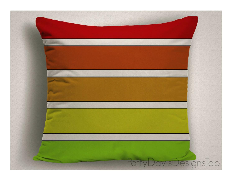 Modern Green Pillow Cover : Polka Dot Pillows, Red and Green Throw Pillows, Large Pillow Covers, Modern Decor