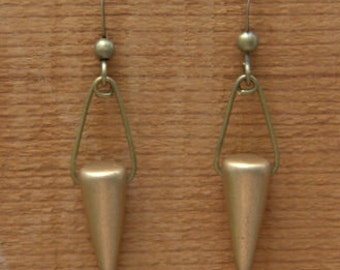 Bronze Colored Cone Earrings