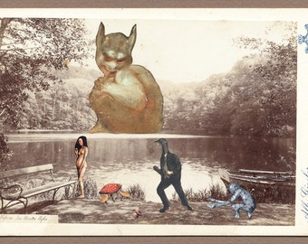 """surreal collage """"Evil is everywhere at home.."""""""