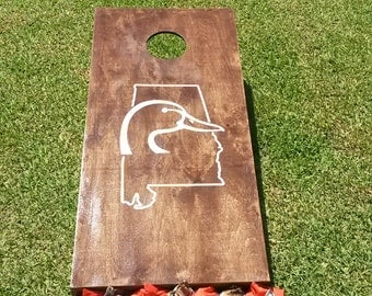 duck head corn hole boards