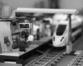 Lego Photo Wall Art 10x8 Train Station