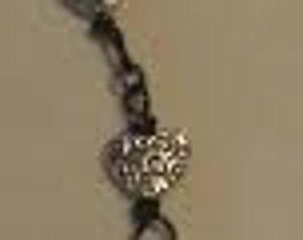 Silver Swirly Heart Bracelet B3