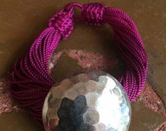 Moroccan purple multi strand Sabra bracelet