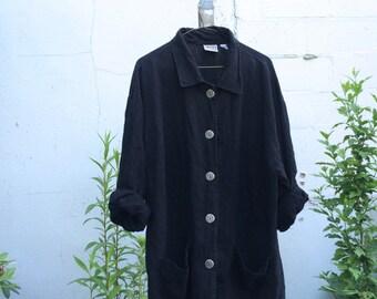 Linen Oversize Light Jacket Overcoat Size M/L