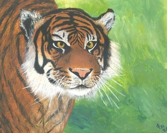 Tiger painting - reproduction