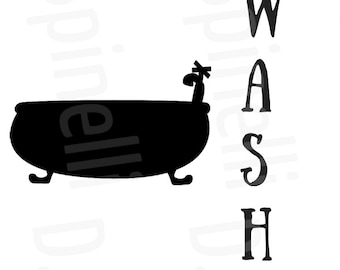 Wash Flush Floss Brush Combo *Black & White* downloadable prints