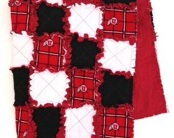 U of U Baby Flannel Rag Blanket