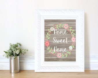 Home Sweet Home and School Sweet School Poster Instant Download 8x10