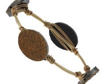Druzy Wire Bracelet