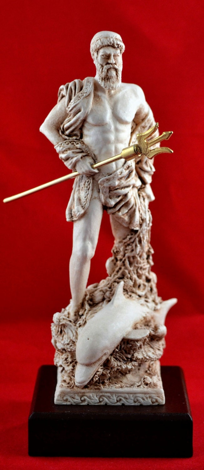 Poseidon greek statue sea god new - Poseidon statue greece ...