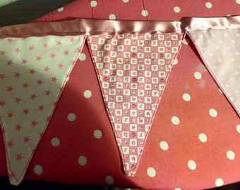 Girls pretty pink bunting