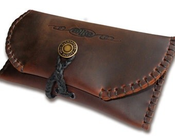 "Handmade Leather Tobacco Pouch  -  ""Simple but Tough"""