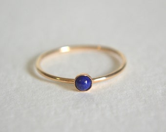 Gold Lapis Lazuli Ring, Gold Filled Lapis Lazuli Ring, Lapis Lazuli Ring Gold, Gold Lapis Ring, Stacking Ring, Stackable Ring