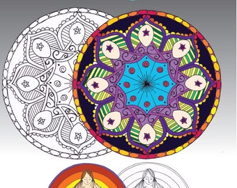 Birth Mandala Adult Colouring In Book