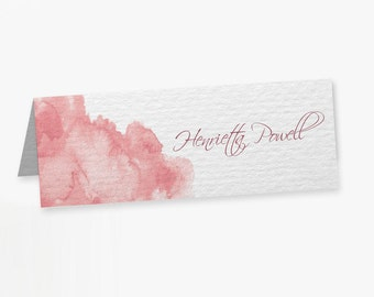 Watercolour Wedding Place Cards