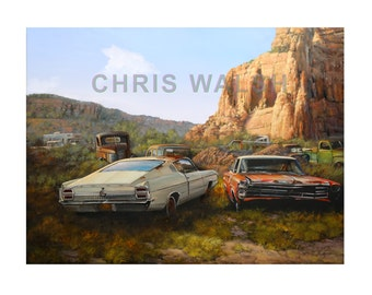 "Fine art prints: ""Tranquil Yard"" by artist Chris Walsh"