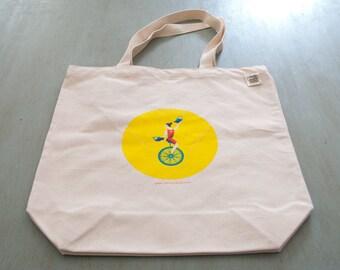 Unicycle Tote Bag