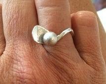 Sterling Silver Golf Ring