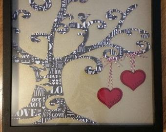 Anniversary/Wedding/Love Tree Shadowbox