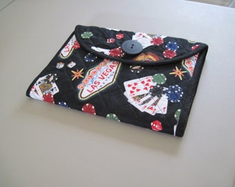 Las Vegas Themed Quilted Notepad Cover