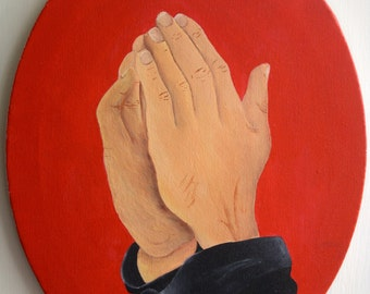 Praying Hands Acrylic Painting
