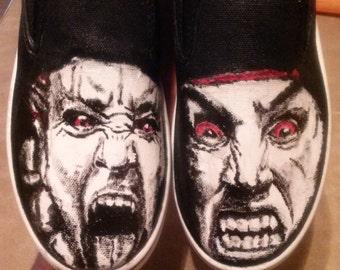 Street Fighter Akuma vs Evil Ryu custom shoes
