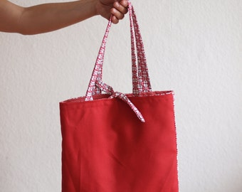 Weekender bag Messenger bag reversible bag canvas handbag