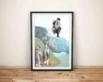 A3 Penguin print