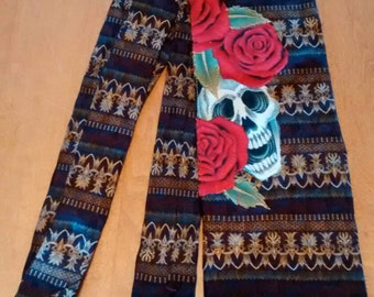 Silk and Skull necktie