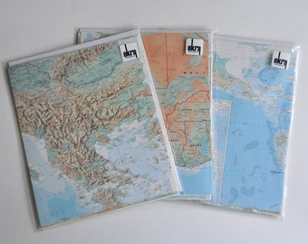 Map Paper Pack Travel Themed Wedding DIY Decorations Large Sheets Map Scrapbooking All Matching
