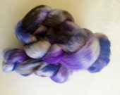 Hand Dyed Cheviot Roving for Spinning or Felting 3.3 Ounces, 93.5 Grams