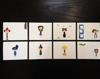 Secret Agent 8-Pack Note Card Set