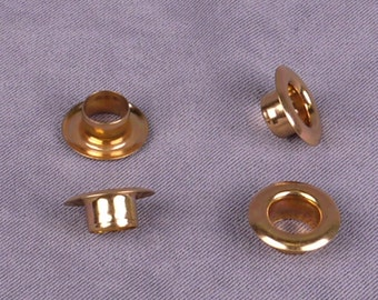 Gold Metal Grommets 8mm - 25 pieces (MG15GOR-25)
