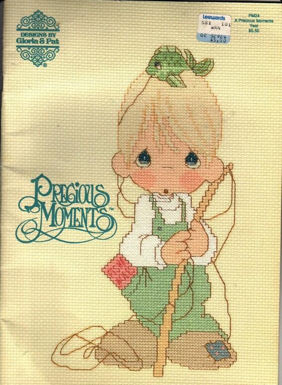 Vintage book precious moments cross stitch guide gloria amp pat 1990