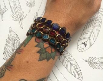 Colorful Handmade Stretch Bracelet Stack