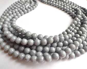 Michelle - Gray Jade Bridesmaid Statement Necklace
