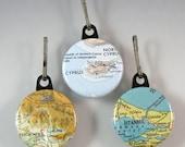 Custom Map Zipper Pull - Choose a map