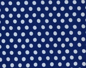 SPOT in BLUE, Polka Dot ,White GP070 Kaffe Fassett fabric Classic Collection / Westminster Fabric / 1/2 yard Cotton, Quilt Craft and  fabric