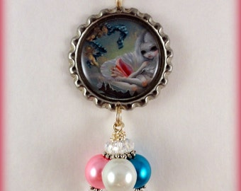 "Jasmine Becket Griffith  "" Venus with Cherubs ""  necklace"