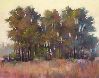 TREE Painting Large Landscape Original Pastel Painting 18x24