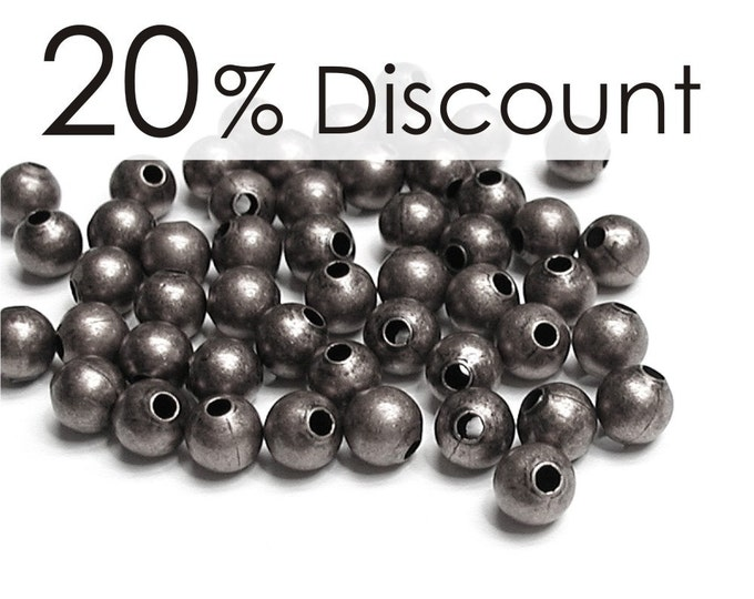 BDBGM-rd30 - Bead, Round, 3mm, Gunmetal - 500 Pieces (5pk)