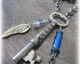 Vintage Key Necklace Assemblage