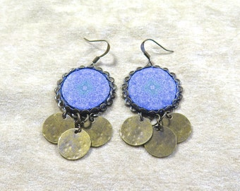Lavender Dangle Earrings - Croatia Collection - by Loschy Designs